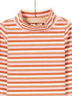 Girl's long sleeves under-sleeve sweater with colorful stripes MACOMSOUP / 21W901L1SPL420