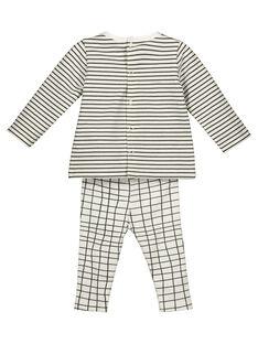 Unisex babies' T-shirt and trousers set GOU1ENS2 / 19WF0512ENS001