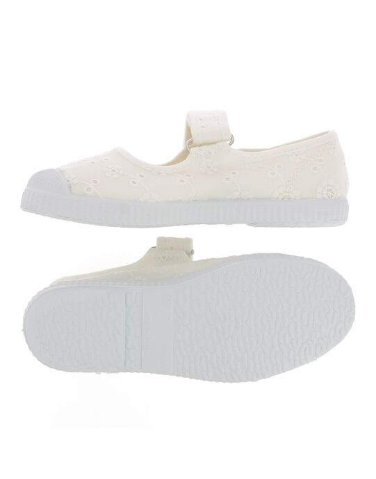 White Salome canvas shoes CFBABBRODE / 18SK35O3D17000
