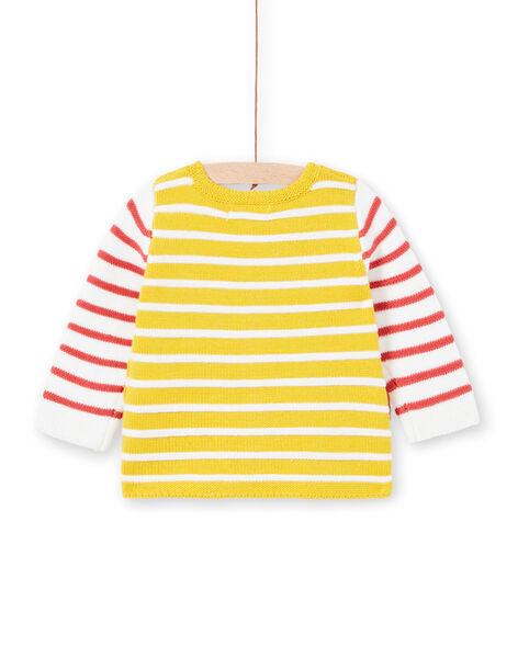 Striped knit vest yellow baby boy LUNOGIL / 21SG10L1GIL106