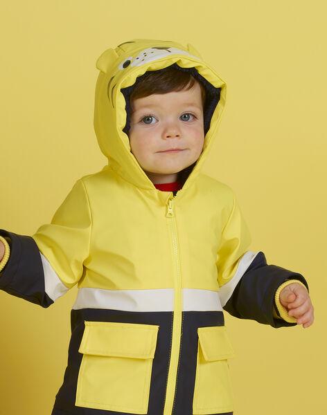 Baby boy yellow raincoat with tiger print MUGROIMP / 21WG1051IMP102