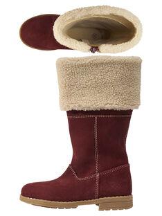 Dark burgundy Boots GFBOTTERED / 19WK35Y1D10503