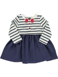 Baby girls' 2-in-1 effect dress CIDEROB4 / 18SG09F4ROB099