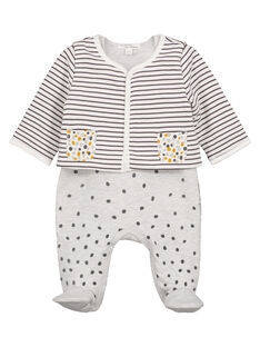 Unisex babies' dungaree and cardigan set GOU1ENS1 / 19WF0513ENS001