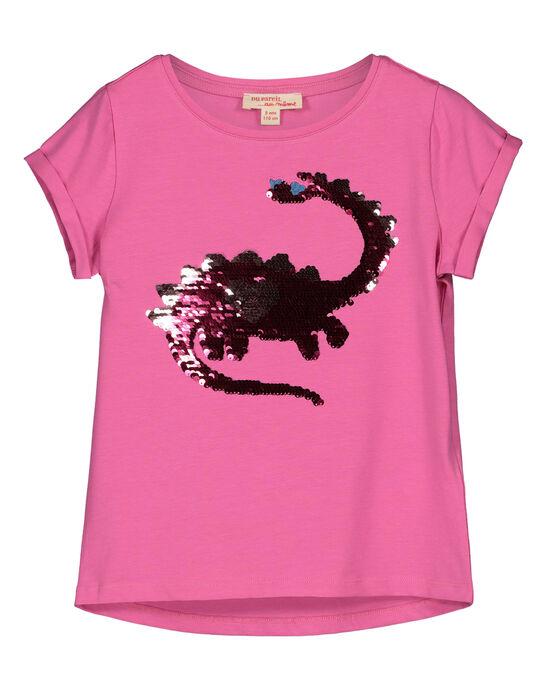 Girls' reversible sequin T-shirt GABLETI1 / 19W90191TMCD305