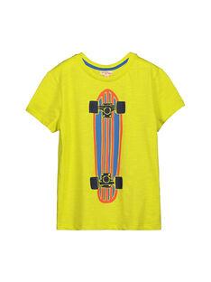 Boys' fancy short-sleeved T-shirt FOJOTI4 / 19S90234D31117