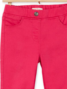 Dark pink jeggings in dyed garment LAJOJEG2 / 21S90144D2BF507