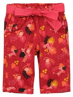 Baby girls' fancy trousers FIBAPAN / 19SG0961PAN511