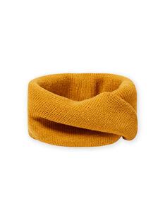 Saffron yellow knitted snood for child boys MYOGROSNO1 / 21WI0252SNO113