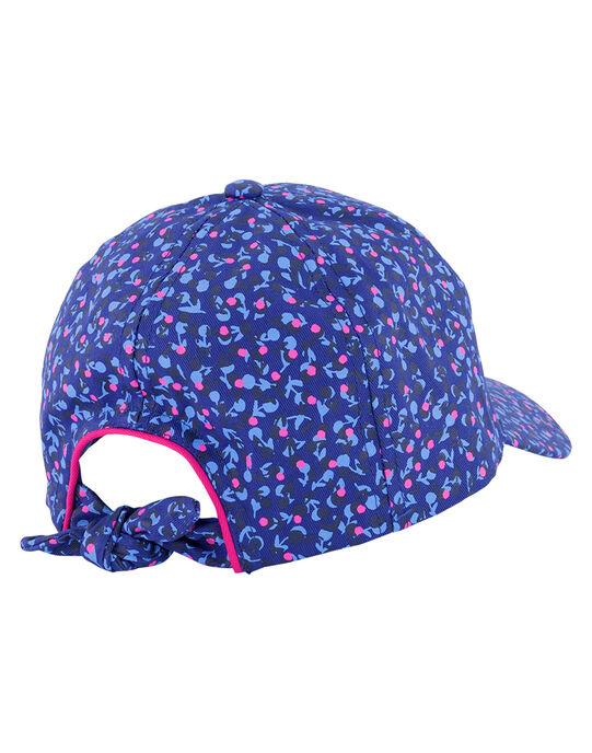 Girls' floral print cap GYABLECAP / 19WI0191CHAC226