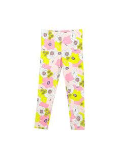 Girls' printed leggings FYAPOLEG / 19SI01C1CAL099