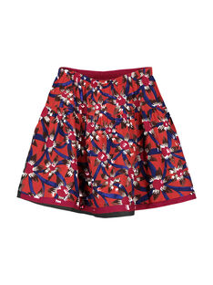 Girls' reversible skirt FABAJUP1 / 19S90162JUP099