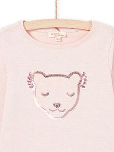 Pink T-shirt child girl MAJOYTEE2 / 21W90114TMLD314