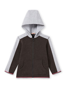 Boy's charcoal and grey hooded jogging top MOJOJOH2 / 21W90213JGH944