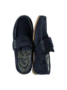 Boys? smart split leather moccasins FGMOCAVION / 19SK36B1D4N070