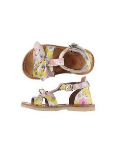 Baby girls' smart leather sandals FBFSANDAOP / 19SK37C5D0E099