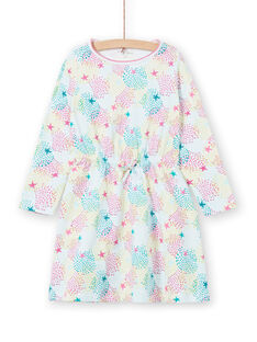 Children's nightgown girl in multicolored printed jersey LEFACHUSTA / 21SH1153CHN000