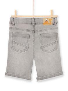 Baby boy grey denim shorts LOTERBER4 / 21S902V2BERK004