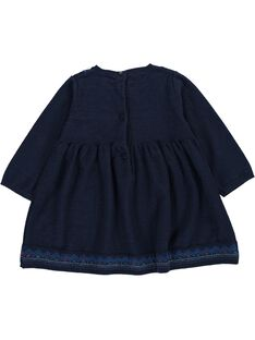 Baby girls' long-sleeved dress DIBLEROB3 / 18WG0993ROBC205