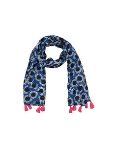 Girls' fancy print scarf FYANEFOUL / 19SI01B1FOU099