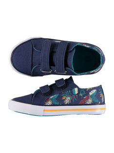Boys' printed canvas trainers FGVELSIN / 19SK36C4D16070