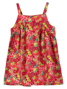 Baby girls' light strappy dress FIYEROB1 / 19SG09M1ROB000