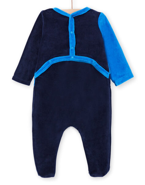 Sleep suit blue baby boy sleep suit LEGAGRELEF / 21SH1454GRE713