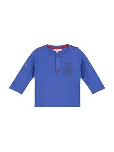 Baby boys' grandad collar T-shirt FUJOTUN2 / 19SG1032TMLC207