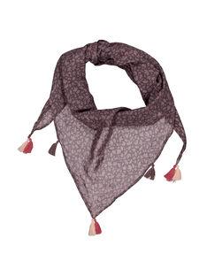 Girls' scarf with pompoms FYAJOUFOUL / 19SI01T1FOU099