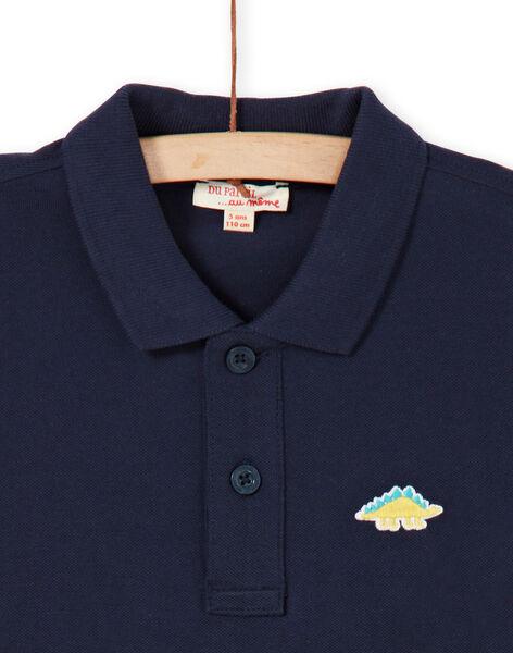 Midnight blue polo shirt - Boy LOJOPOL1 / 21S90241POL705
