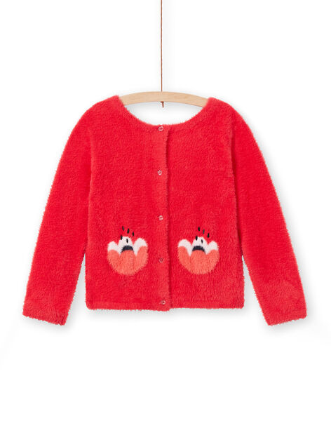 Reversible feather knit reversible pullover cardigan with long sleeves LAROUCAR / 21S901K1PULF517