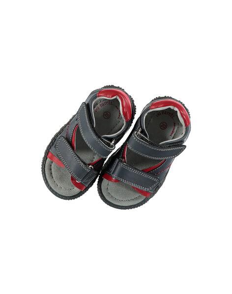 Baby boys' smart leather sandals. FBGSANDAT / 19SK38K3D0E940
