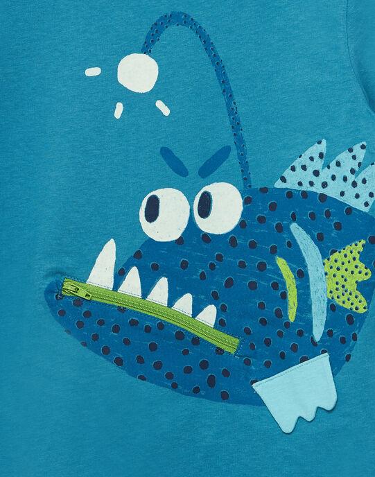 electric blue T-shirt JOBOTI5 / 20S902H4TMC215