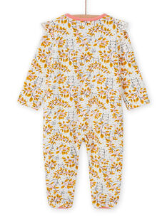 Baby girl's unbleached floral print romper MEFIGREAOP / 21WH1384GRE001