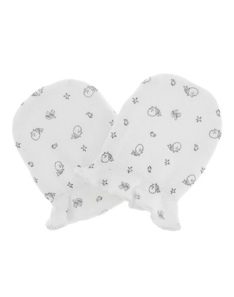 Unisex newborn mittens CACMMOUFL1 / 18SF42B1MFN099