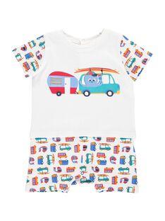 Baby boys' short sleepsuit CEGUGREROU / 18SH1462GRE099