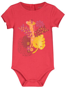 Baby girls' short-sleeved bodysuit FEFIBODTHE / 19SH1351BDL308