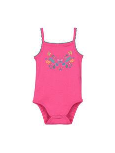 Baby girls' bodysuit with straps FEFIBODECO / 19SH13I2BDL330