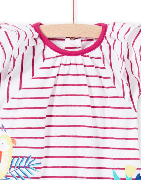 Baby girl striped jersey romper JIMARCOMB / 20SG09P1CBL000