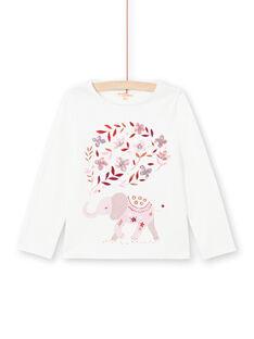 Girl's long sleeve reversible cherry t-shirt MACOMTEE1 / 21W901L1TML001