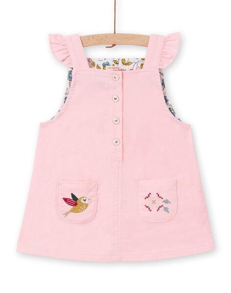 Baby girl pink corduroy dress MIKAROB2 / 21WG09I2ROBD316