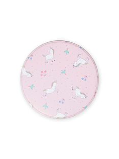 Baby girl's pink metal snack box with unicorns MYACLABOI / 21WI01G1D5OC205