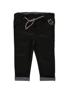 Baby girls' black trousers CIBENPAN1 / 18SG09G1PAN090