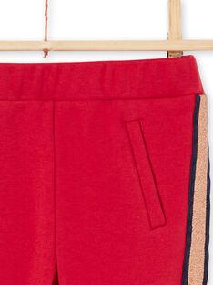 Girl's red striped pants MAJOMIL5 / 21W90114PAN511