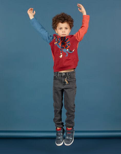 Boy's charcoal slim fit jeans MOPAJEAN / 21W902H1JEAK004