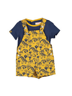 Baby boys' dungarees and T-shirt set FUBAENS / 19SG1061ENS107