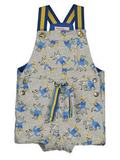 Baby boys' printed short dungarees GUBLESAC / 19WG1091SACJ908