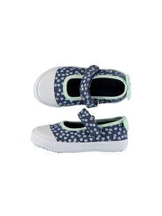 Navy Salome canvas shoes FBFBABSHEL / 19SK37B1D17070
