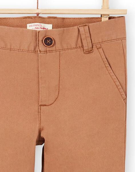 Baby boy plain brown pants MOESPACHI2 / 21W902E1PANI810