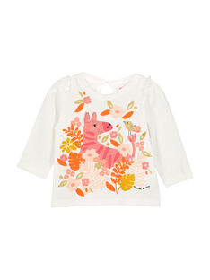 Baby girls' long-sleeved T-shirt FIBATEE / 19SG0961TML001